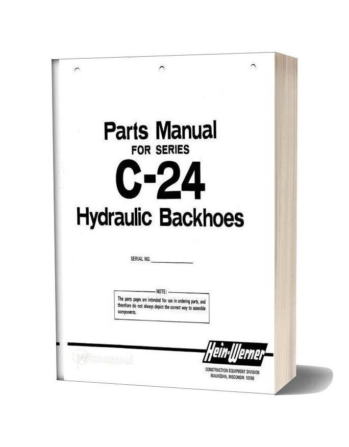 Hein Warner C24 Pm 9308139 Parts Book