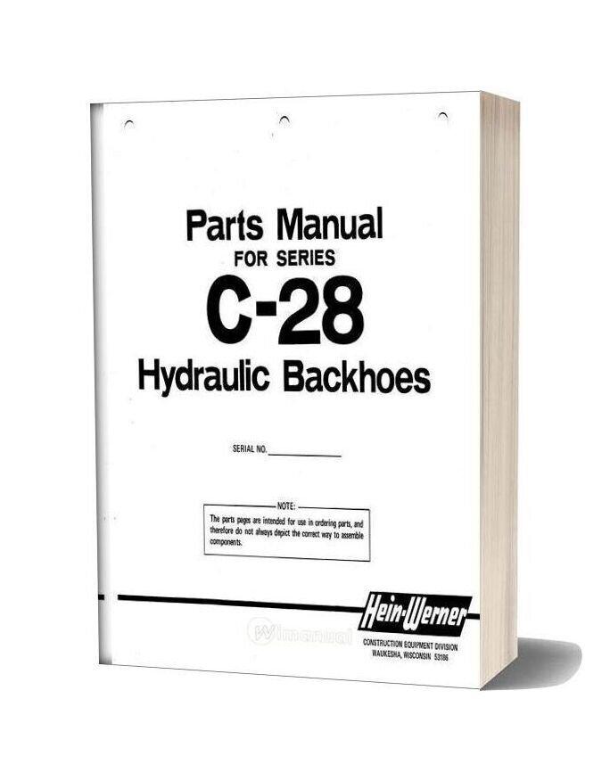 Hein Warner C28 Pm9308140 Parts Book