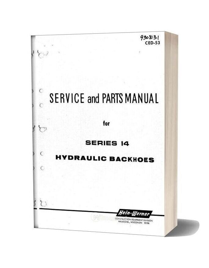 Hein Warner Series 14 Spm 9308131 Parts Book
