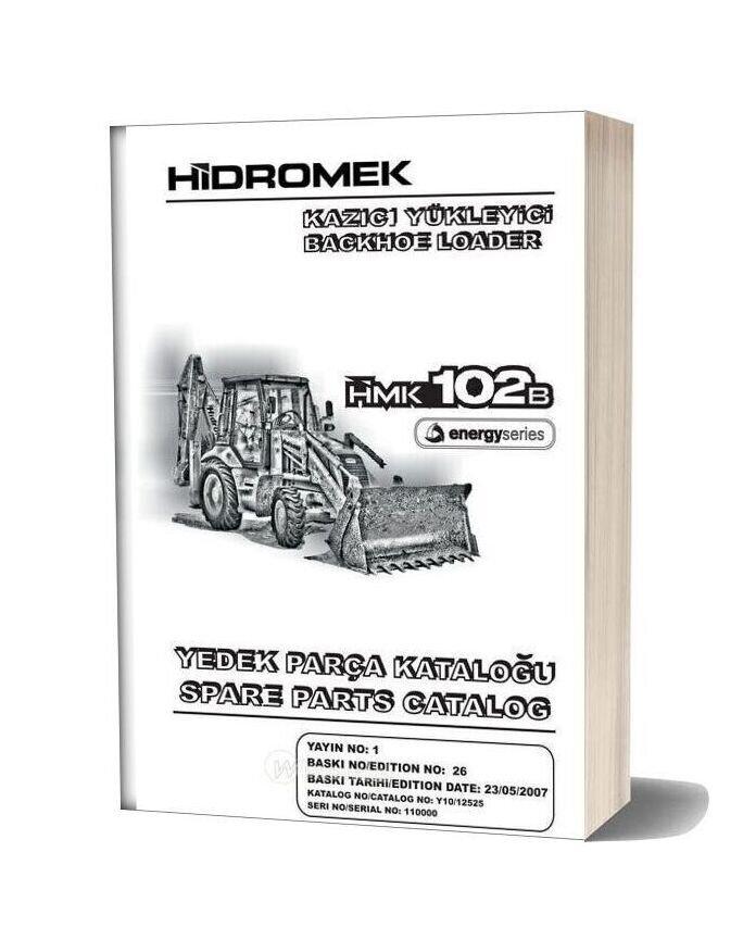 Hidromek Hmk 102b Backhoe Loader Parts Catalog 2007