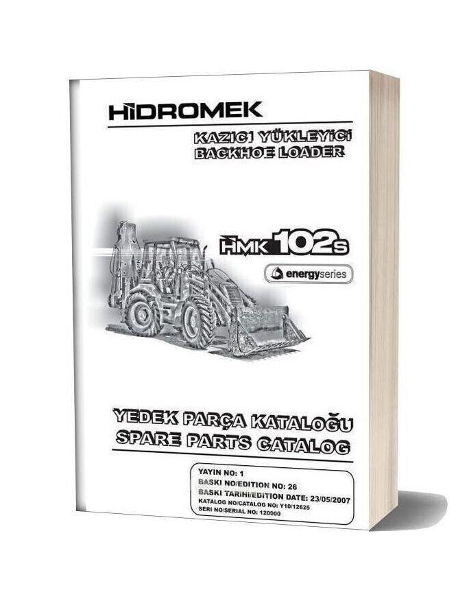 Hidromek Hmk 102s Backhoe Loader Parts Catalog 2007