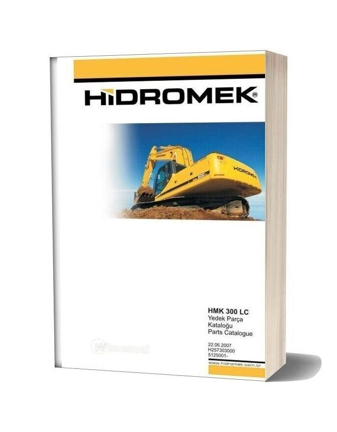 Hidromek Hmk 300 Lc Parts Catalogue