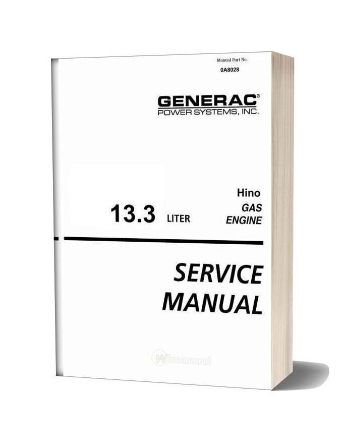 Hino 13 3l Gas Engine Service Manual Lexe0606 00