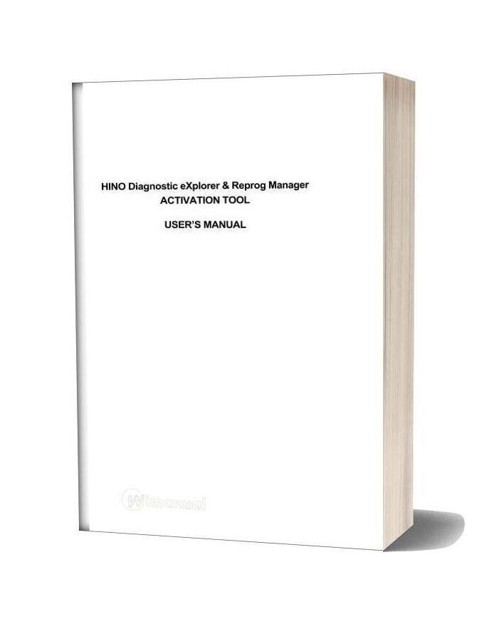 Hino Diagnostic Explorer 3 0 Dx Activation User S Manual