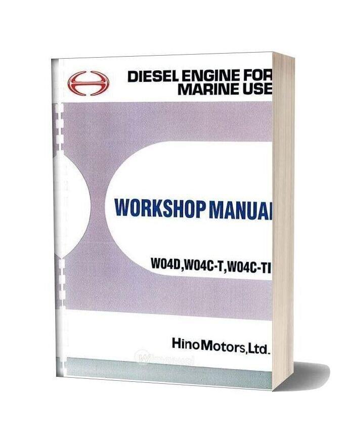 Hino Engine Workshop Manual W04