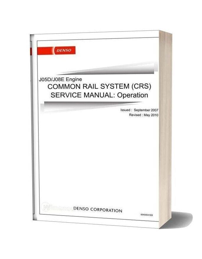 Hino J05d J08e Common Rail Service Manual
