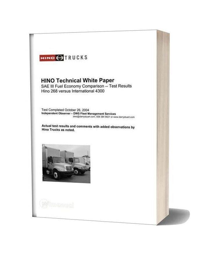 Hino Technical White Paper International