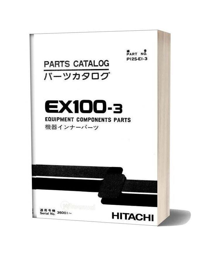 Hitachi Ex100 3 Equipment Components Parts