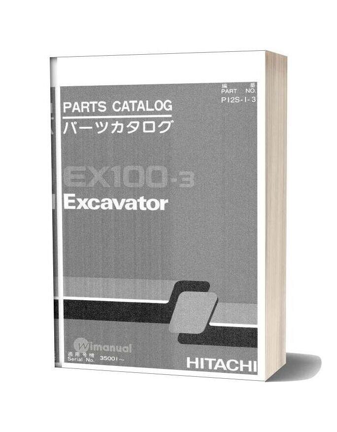 Hitachi Ex100 3 Excavator Parts Catalog
