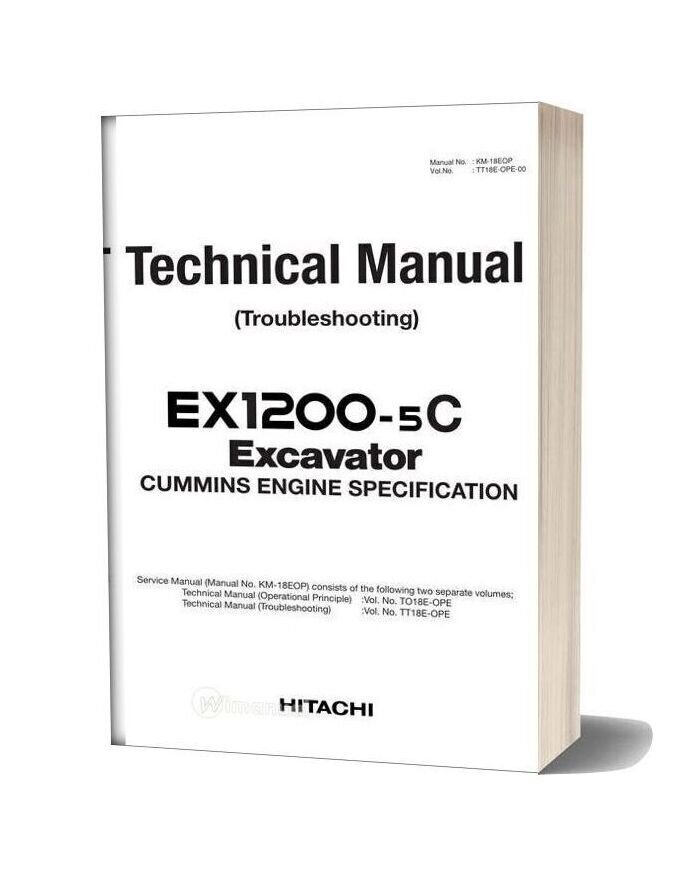Hitachi Ex1200 5c Excavator Technical Manual
