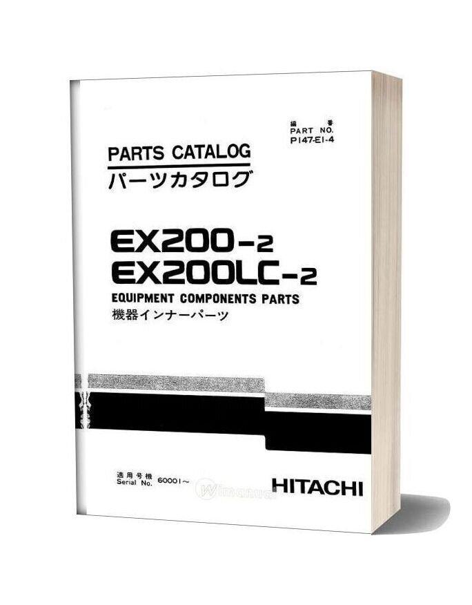 Hitachi Ex200 2 Equipment Components Parts