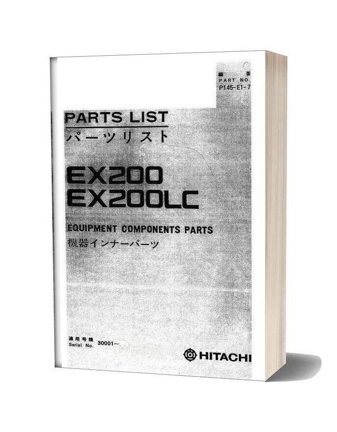 Hitachi Ex200 200lc Equipment Components Parts
