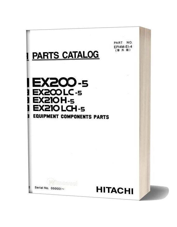 Hitachi Ex200 210 5 Equipment Components Parts