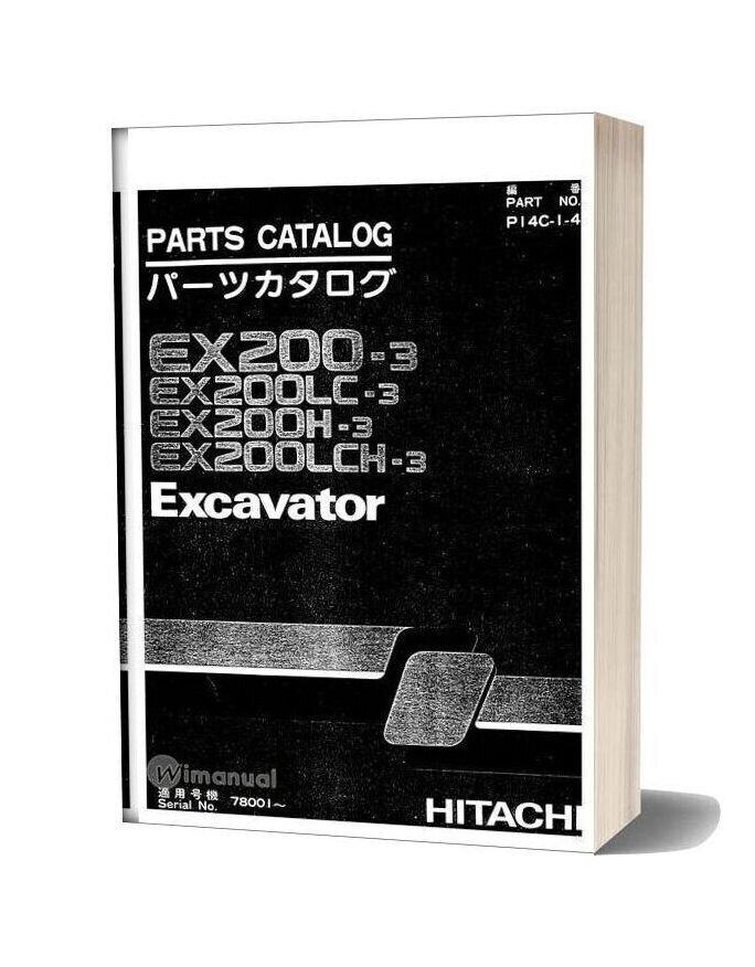 Hitachi Ex200 3 Excavator Parts Catalog