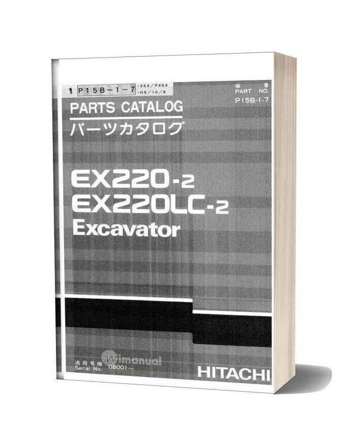Hitachi Ex220 200lc 2 Excavator Parts Catalog