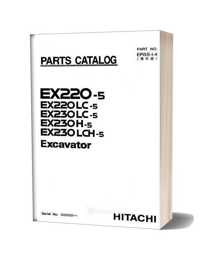 Hitachi Ex220 230 5 Excavator Parts Catalog