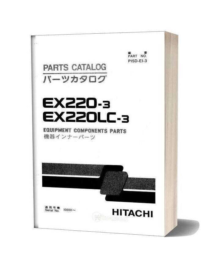 Hitachi Ex220 3 Equipment Components Parts