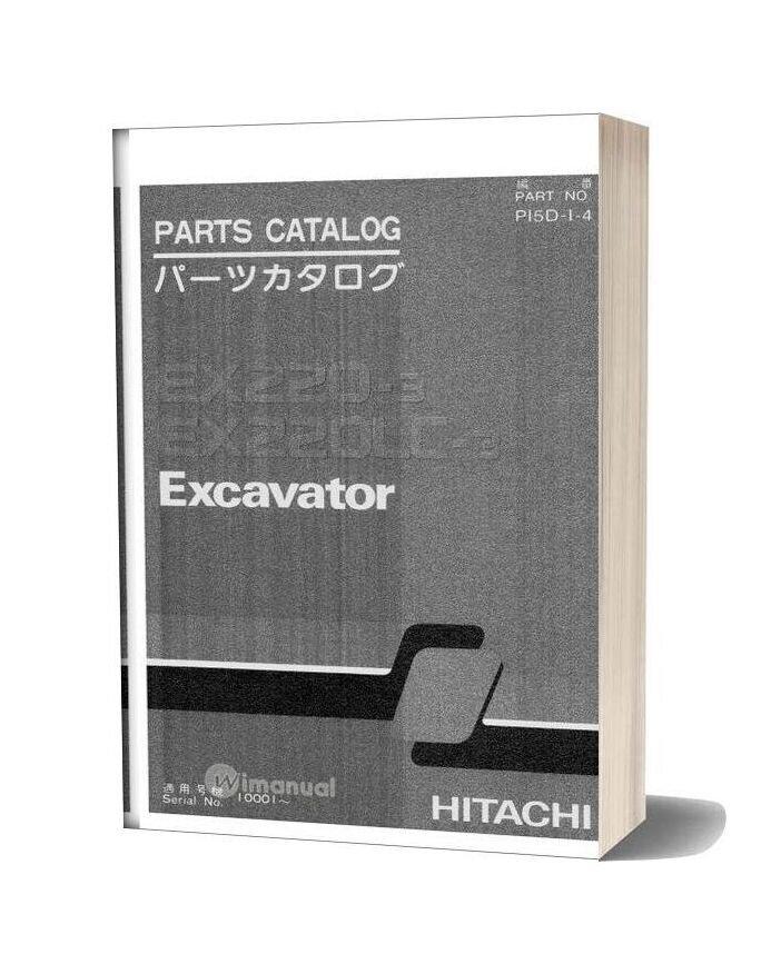 Hitachi Ex220 3 Excavator Parts Catalog