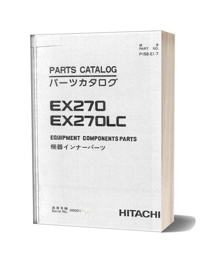 Hitachi Ex270 270lc Equipment Components Parts