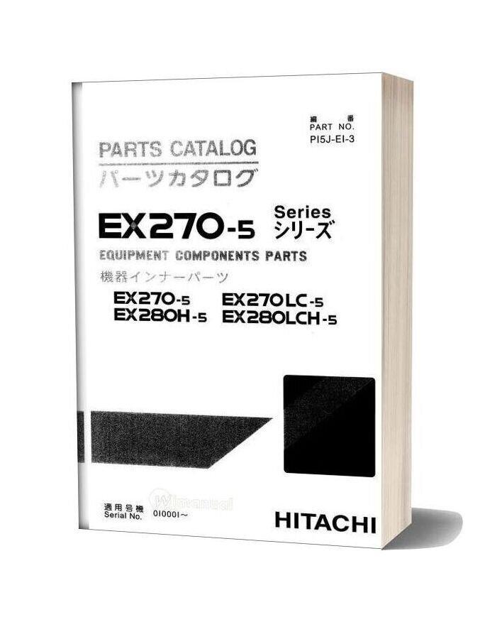 Hitachi Ex270 280 5 Equipment Components Parts