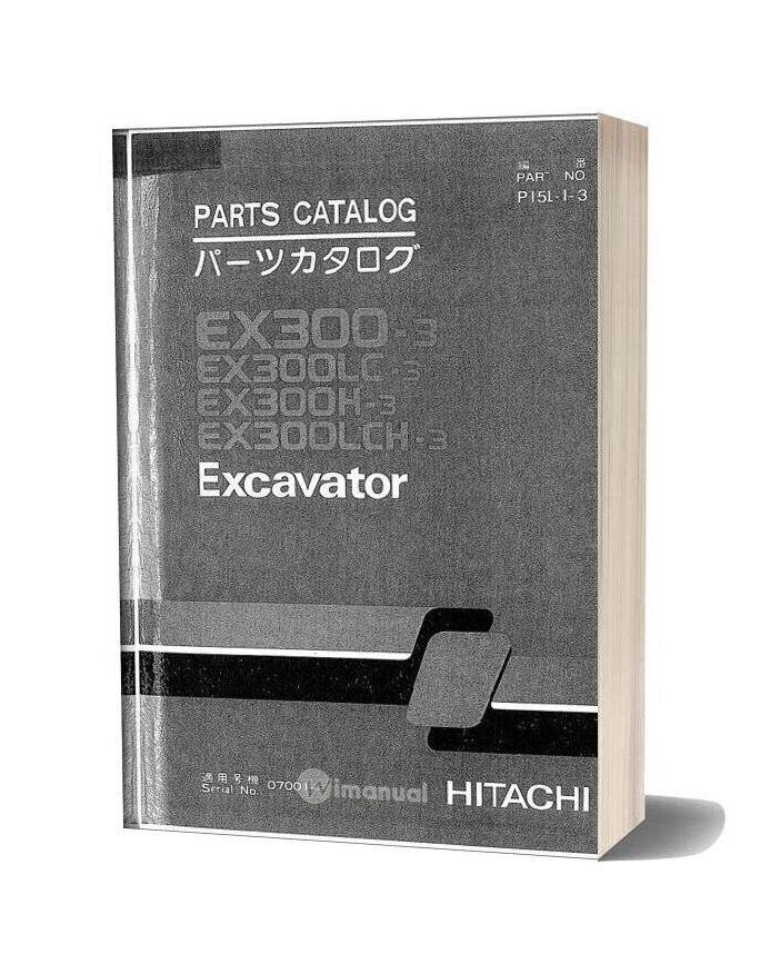 Hitachi Ex300 3 Excavator Parts Catalog