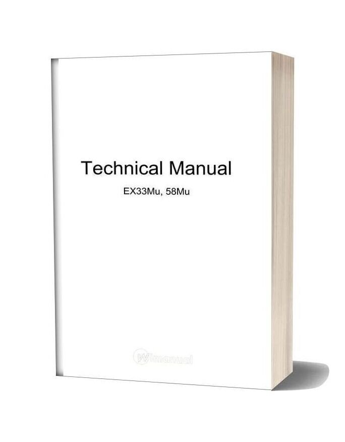 Hitachi Ex33mu Ex58mu Excavator Service Manual