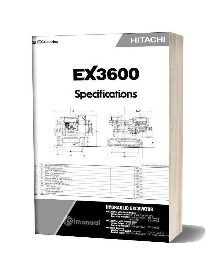 Hitachi Ex3600 Hydraulic Excavator