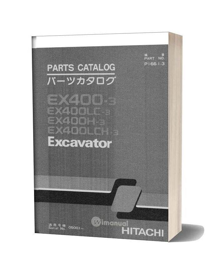 Hitachi Ex400 3 Excavator Parts Catalog