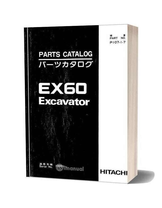 Hitachi Ex60 Excavator Parts Catalog
