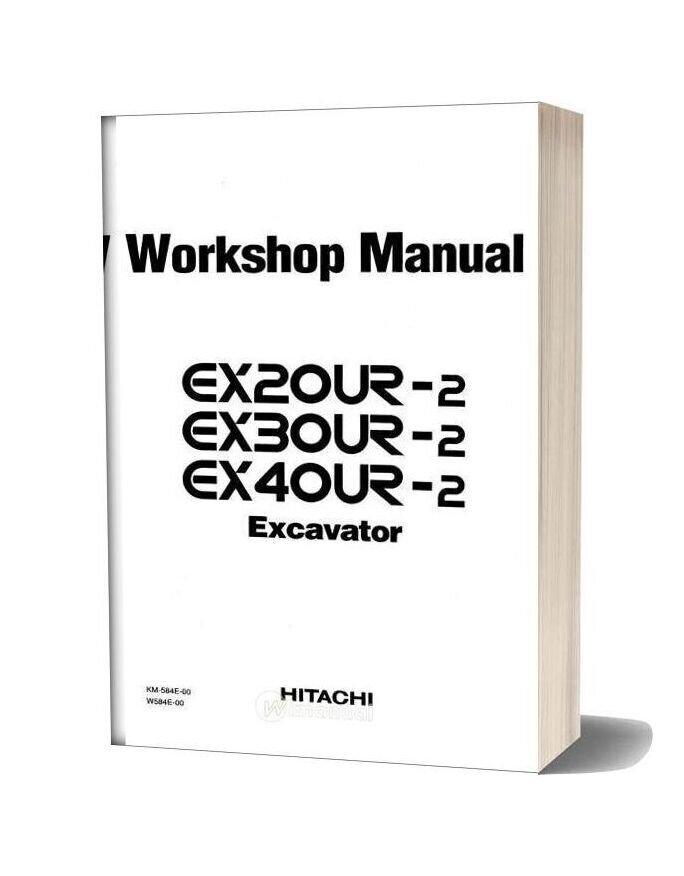 Hitachi Excavator Ex20ur Ex30ur Ex40ur Workshop Manual