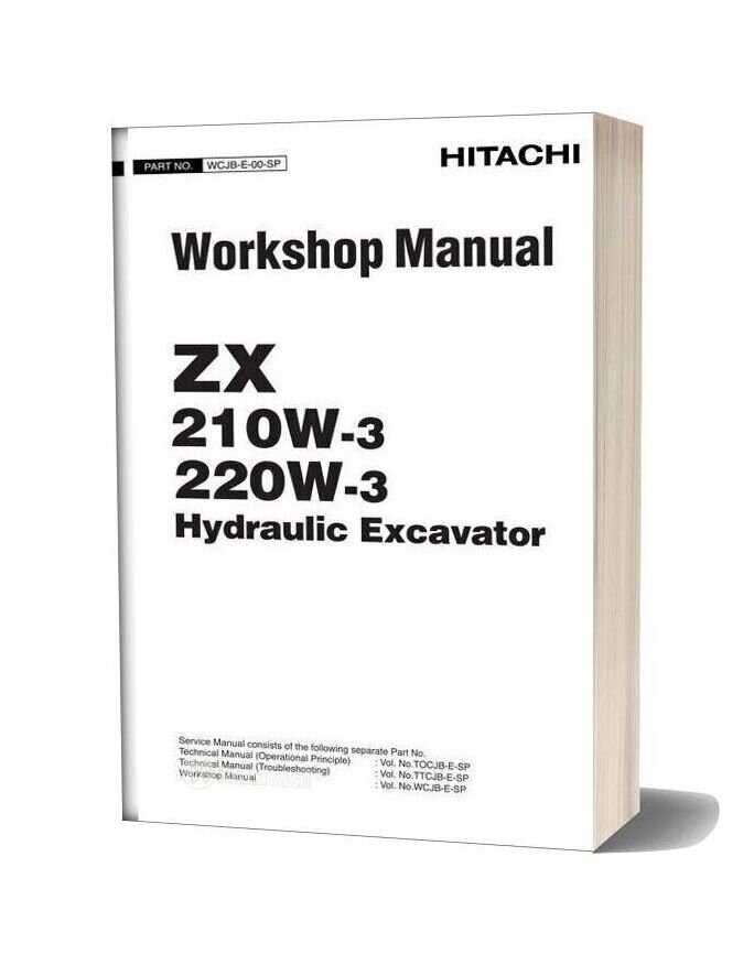 Hitachi Hydraulic Excavator Zx210w 3 Zx220w 3 Workshop Manual