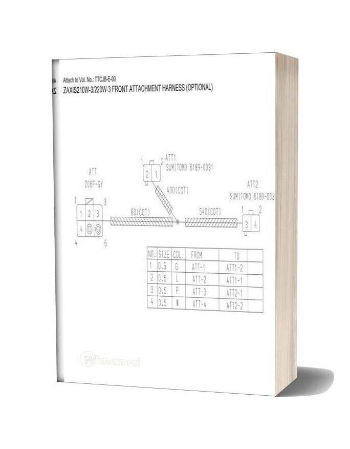 Hitachi Zaxis 140w 170w 190w 210w 220w 3 Electrical Circuit Diagram 2
