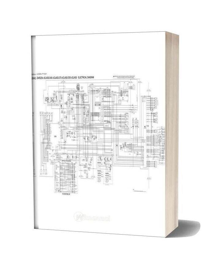 Hitachi Zaxis 200 240 270 330 3 Electrical Diagram