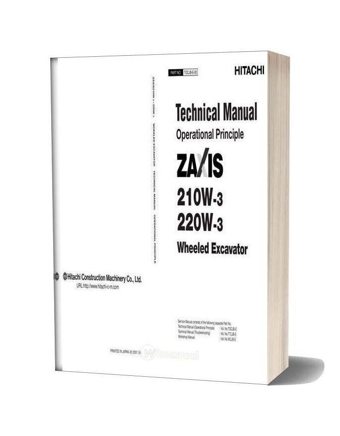 Hitachi Zaxis 210w 220w 3 Technical Manual Operational Principle