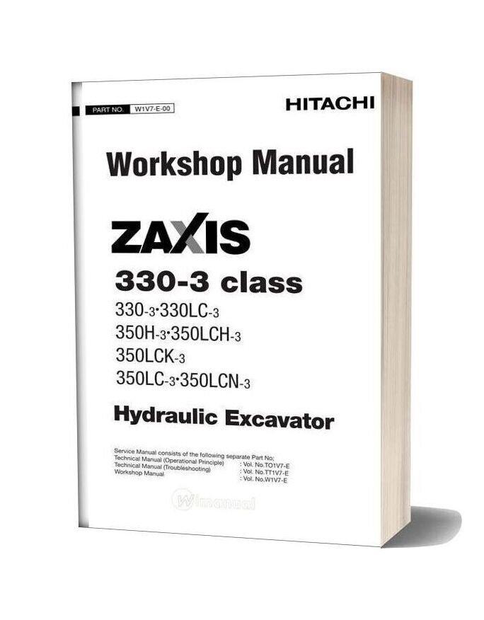 Hitachi Zaxis 330 3 Class Workshop Manual
