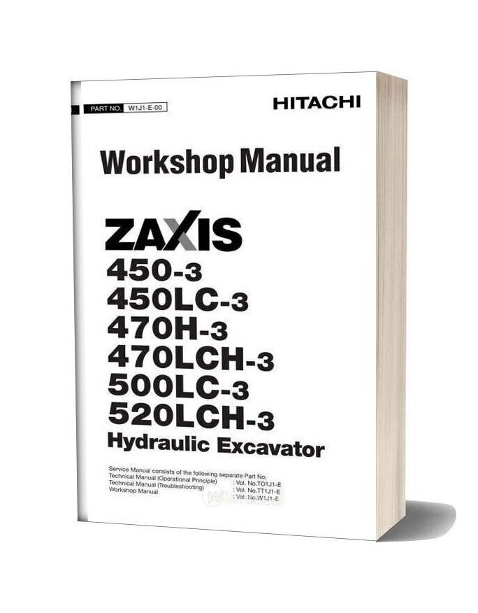 Hitachi Zaxis 450 450lc 470h 470lch 500lc 520lch 3 Workshop Manual
