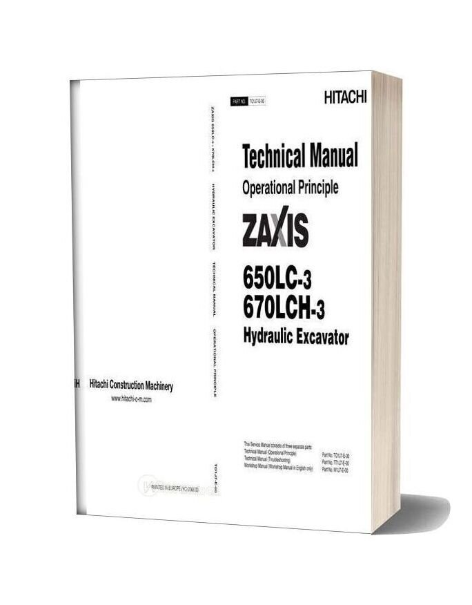 Hitachi Zaxis 650lc 670lch 3 Technical Manual Operational Principle