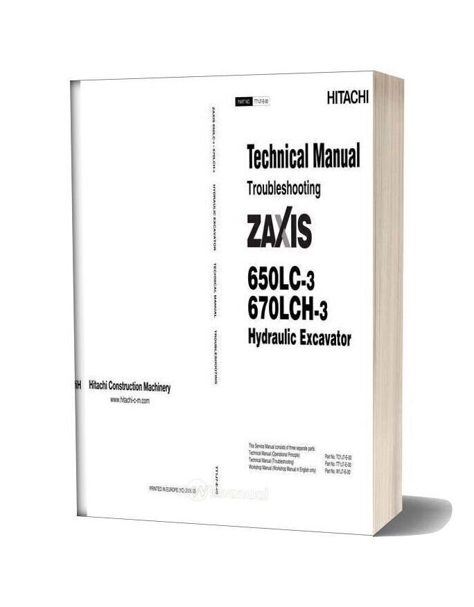 Hitachi Zaxis 650lc 670lch 3 Technical Manual Troubleshooting