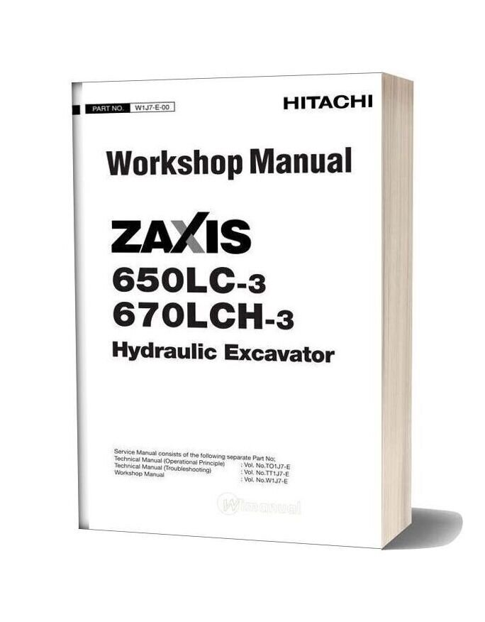 Hitachi Zaxis 650lc 670lch 3 Workshop Manual