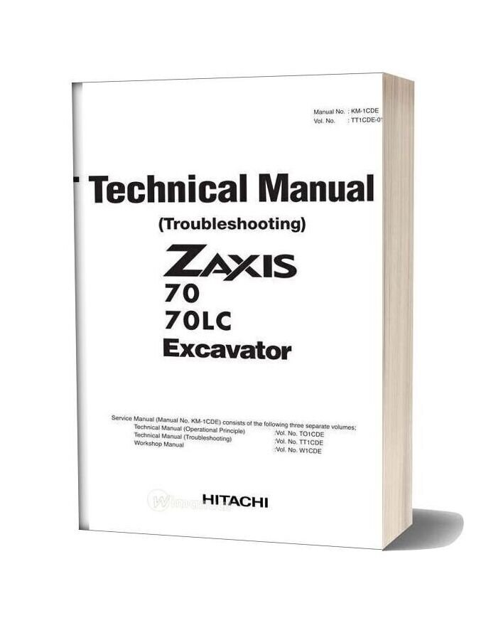 Hitachi Zaxis 70 70lc Excavator Technical Manual