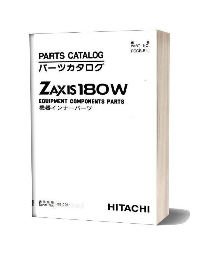 Hitachi Zaxis Zx180w Equipment Components Parts