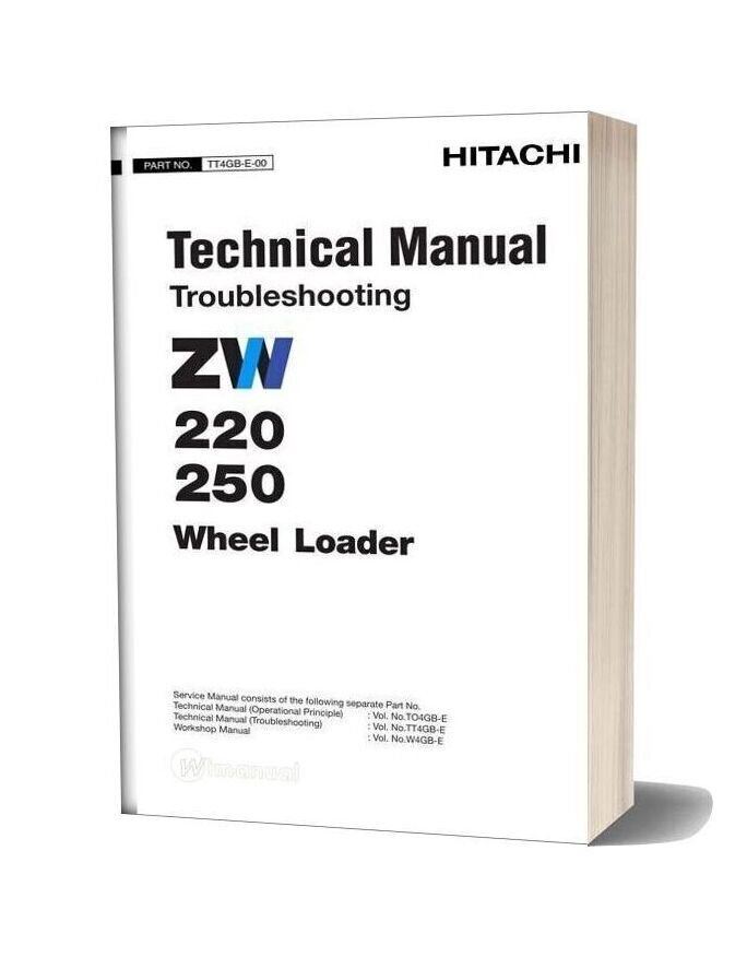 Hitachi Zw220 250 Technical Man Troble