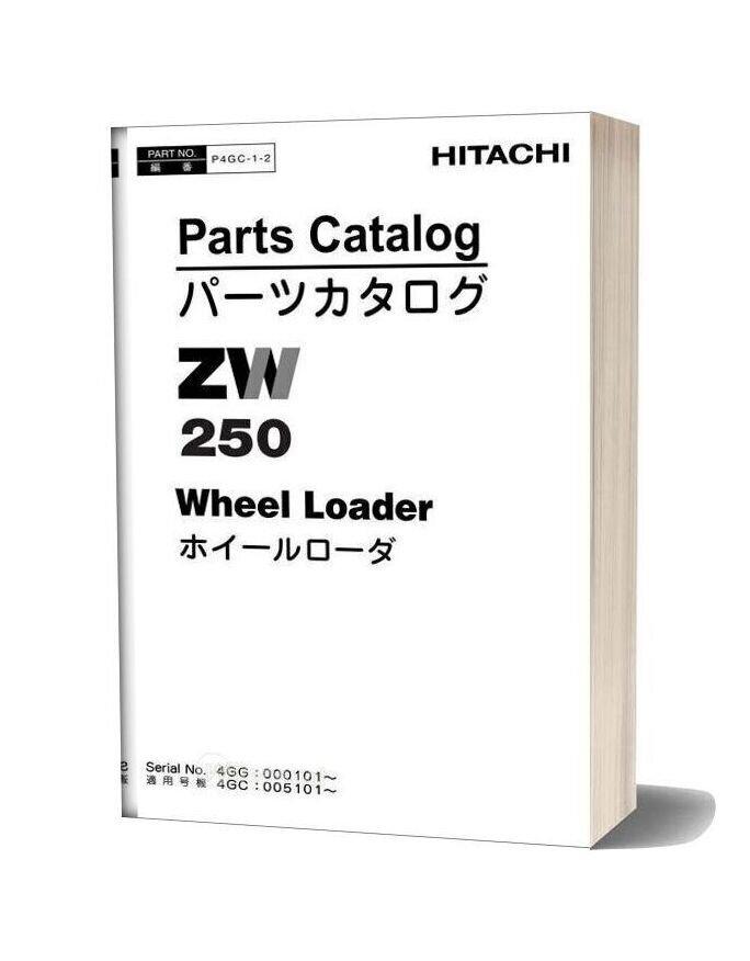 Hitachi Zw250 Parts Catalogue P4gc 1 2