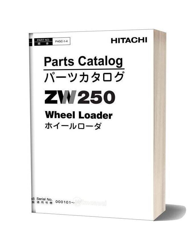 Hitachi Zw250 Parts Catalogue P4gc 1 4