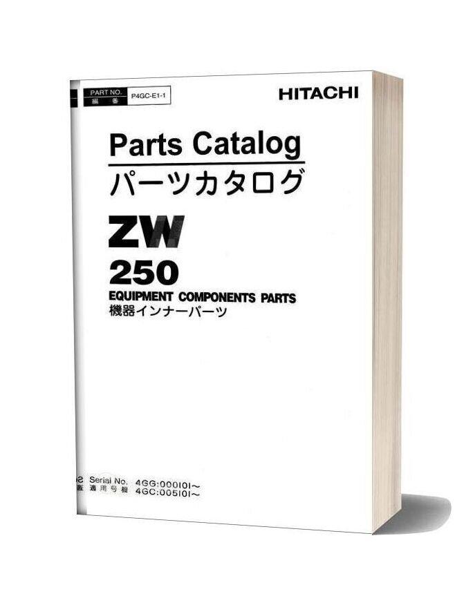 Hitachi Zw250 Parts Catalogue P4gc E1 1