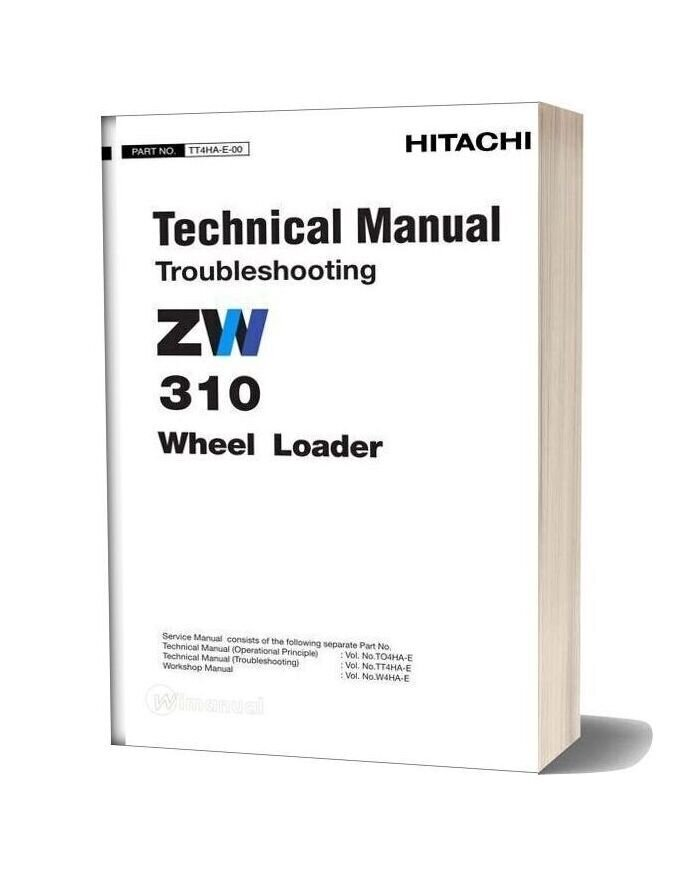 Hitachi Zw310 Technical Manual Troubleshooting
