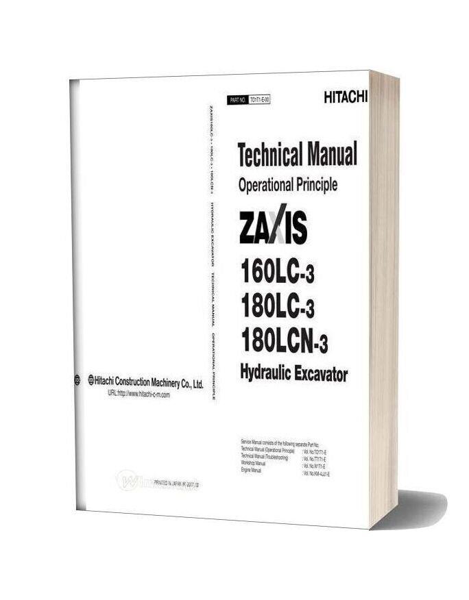 Hitachi Zx160lc 180lc 180lcn 3 Hydraulic Excavator Operational Principle