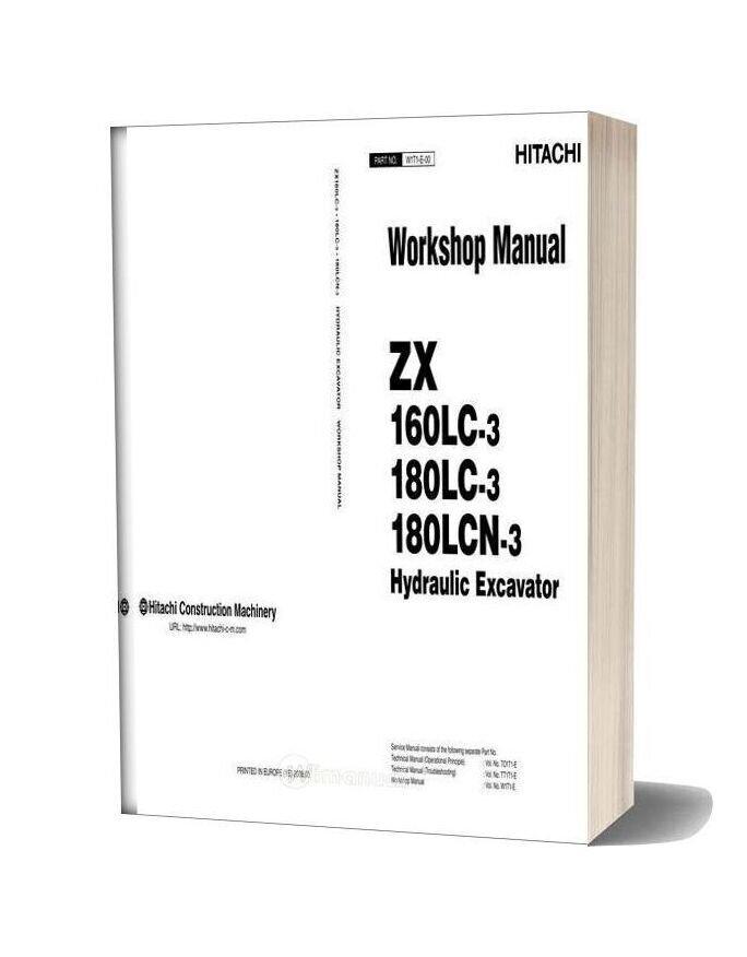 Hitachi Zx160lc 180lc 180lcn 3 Workshop Manual