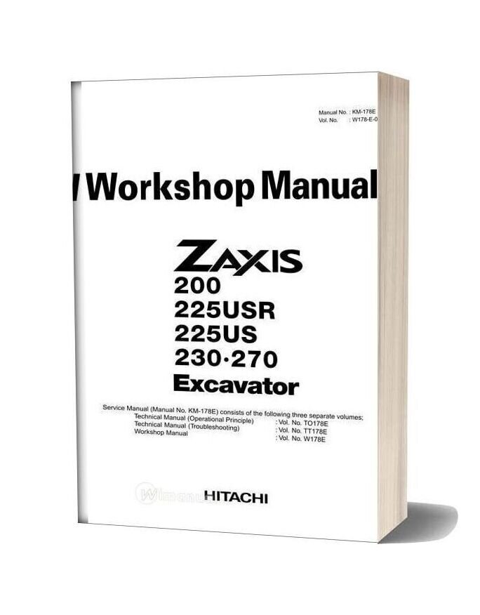 Hitachi Zx200 Workshop Manual