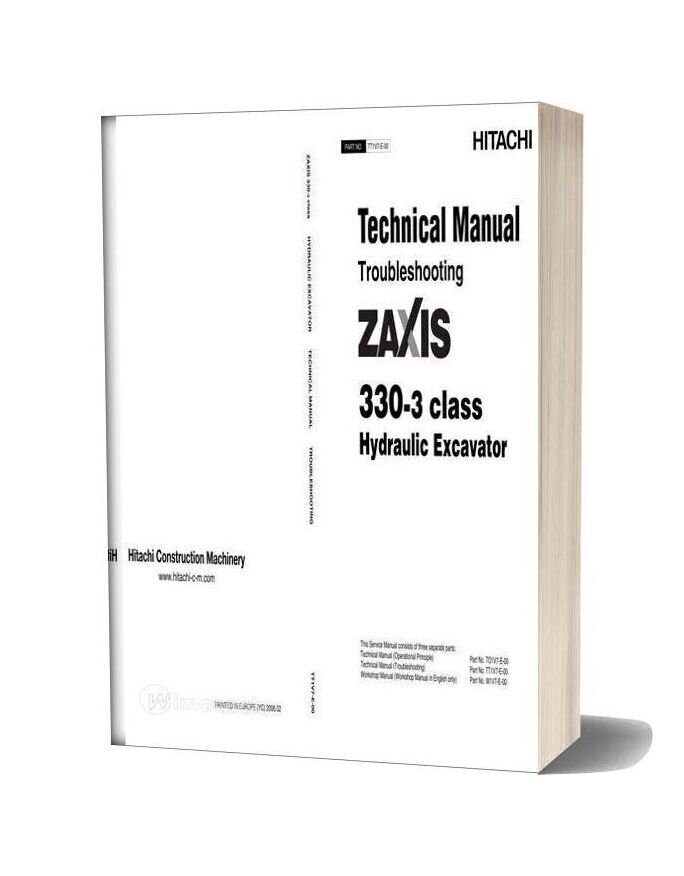 Hitachi Zx330 3 Technical Man Tro